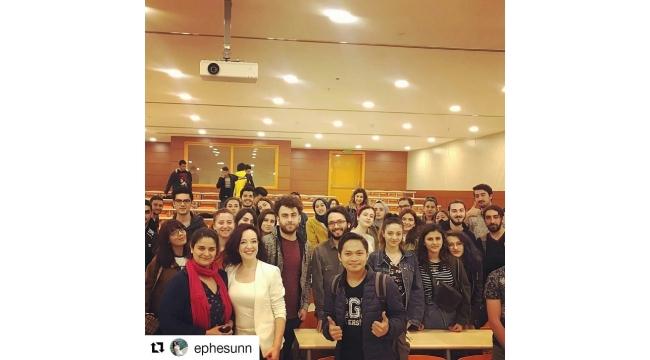 Gazeteci adaylarına tecrübelerini aktardı
