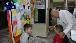 İKÇÜ Atatürk Eğitim ve Araştırma Hastanesi Kreşindeki Çocuklardan Sergi
