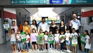 Başkan Soyer'in çağrısına anaokulu öğrencilerinden
