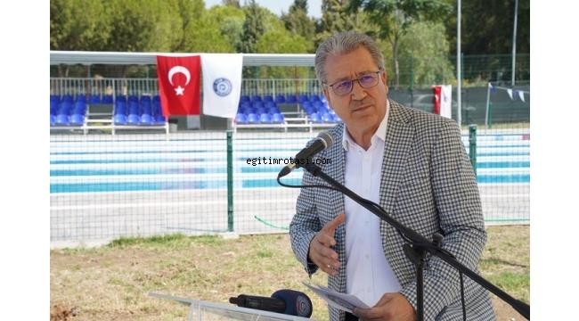 Yenilenen EÜ Açık Yüzme Havuzu hizmete girdi