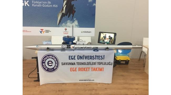 Ege roket takımı TEKNOFEST'te stant açtı