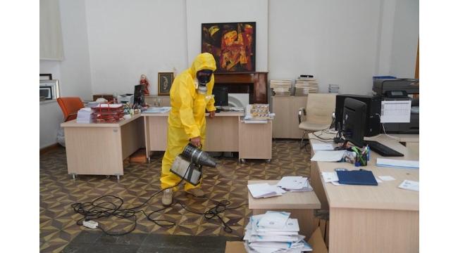 ' Ege Üniversitesinde dezenfekte çalışmaları devam ediyor