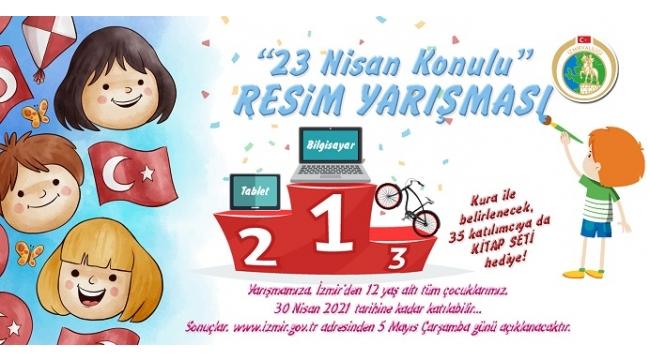 İzmir Valiliğinden 23 Nisan'a Özel Ödüllü Resim Yarışması