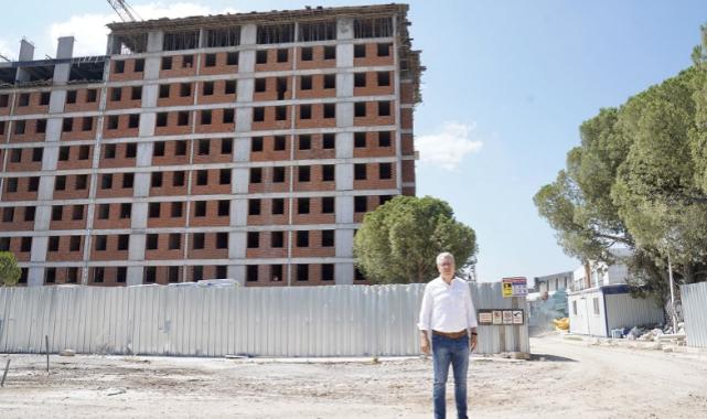 Rektör Budak, yurt inşaatını yerinde inceledi