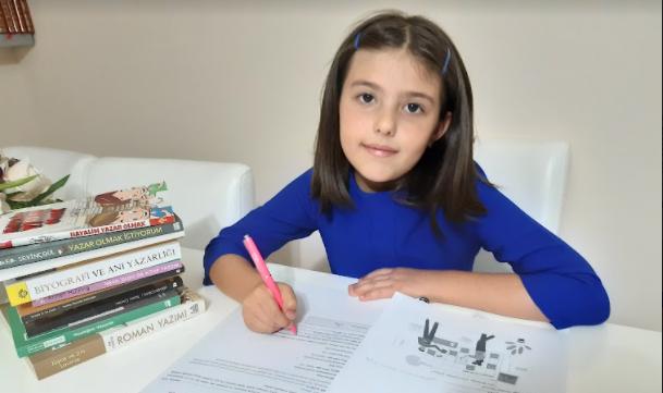 Henüz sekiz yaşında olan Rânâ Yılmaz'ın iki kitabı yayımlandı