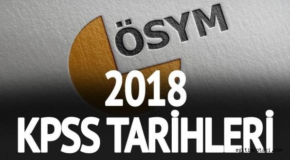 KPSS önlisans ve lisans sınav tarihi! (2018) ÖSYM kesin tarihi...