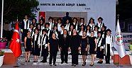 Çamlaraltı Ortaokulu'nda mezuniyet sevinci