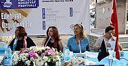 Üç kadın yazar Karaburun'da buluştu
